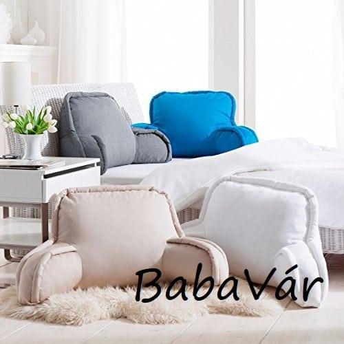 Ágyra tehető komfort háttámasz párna kék