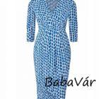 Paulina kék mintás szoptatós kismama ruha Top Job