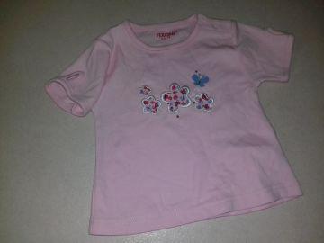 Fixoni rózsaszín virág mintás baba poló