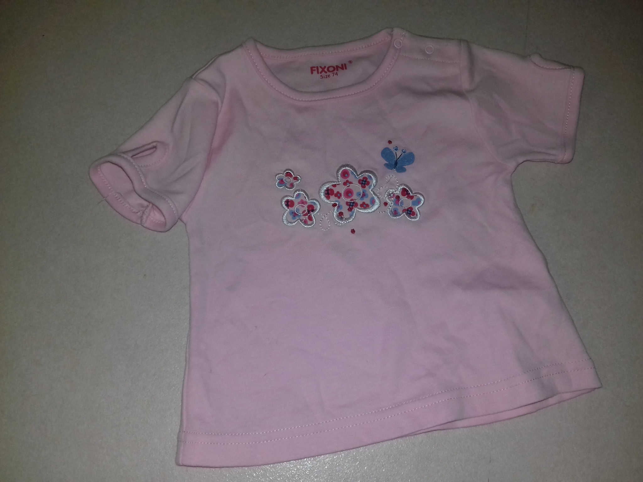 Fixoni rózsaszín virág mintás baba poló  c9e961d5c0