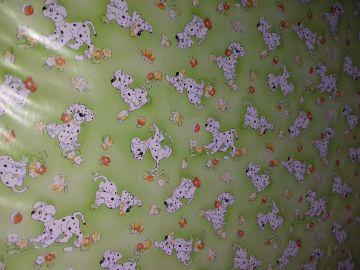 Pinolino összecsukható járóka Levin zöld kutyusos huzattal 73x95 cm