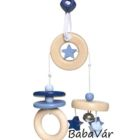 Selecta bellybutton kreatív felakasztható fa csörgő kék