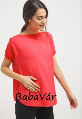 Bellybutton piros lezser  kismama póló