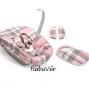 Stokke Tripp Trapp újszülött szetthez Textil szett Tartan Pink