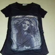 Star Collection fekete női mintás kismama póló