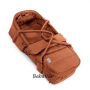 Teutonia 2 az 1-ben lábzsákká alakítható soft textilmózes narancs/fekete