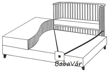 BabyBay Co-Sleeper Boxspring white babaöböl / bölcső