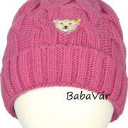 Steiff rózsaszín gyapjú kötött babasapi