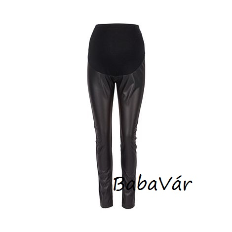 2Hearts fekete Trendsetter bőrhatású legging kismamanadrág