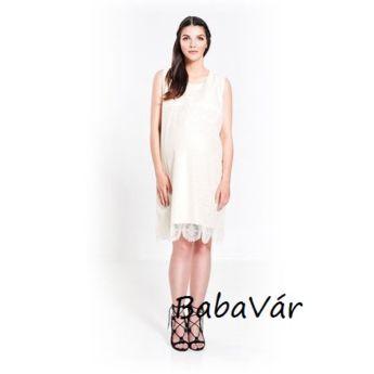 Paula Janz Lyn White Cream szoptatós csipke ruha