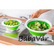 Szilikonos összecsukható Gyümölcs/ Zöldség mosó és szűrő
