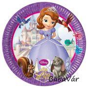 Sofia hercegnős papír tányér szett