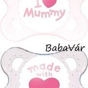 Mam Original szilikon cumi szett rózsaszín I love mummy 0-6 hó