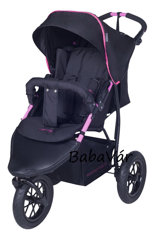 Knorr Baby Joggy S 3 Kerekű Sportbabakocsi Jogger Black Fuchsia ... 971e6f4f01