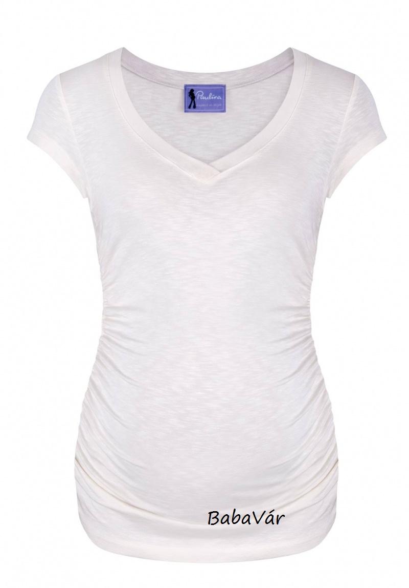 878eb08ef1 Paulina Love Rules kismama póló White off | BabaMamaOutlet.hu