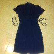 464c32da4b VERTBAUDET/Colline Fekete kötött Kismamaruha. 6 500 Ft. Készleten -  Elérhető mennyiség: 1 db. Queen Mum kék szoptatós kismama ruha