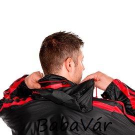 Fekete/piros unisex esőkabát