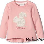 Eat Ants by Sanetta rózsaszín mókusos baba pulóver