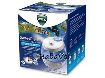 Wick Sweet Dreams 2 in 1 - ultrahangos párásító fény projektorral