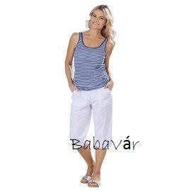 aec1a28c4d Női nyári capri nadrág fehér | BabaMamaOutlet.hu