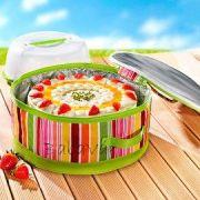 Szögletes összecsukható hűtőtáska tortadobozzal