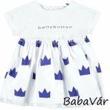 BellyButton fehér korona mintás pamut kislány ruha