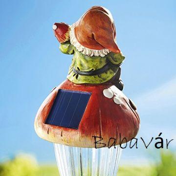 Kerti Dekor: Solar Törpés lámpa (öntözőkannás)
