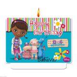 McStuffins Happy Birthday szülinapi gyertya