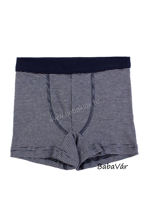 Sanetta kék csíkos pamut boxer alsónadrág  6c564a95d9