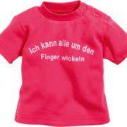 Schnizler pink mintás baba póló