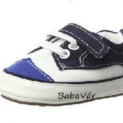 Sterntaler kék/fehér baba vászon cipő