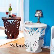 Pillangós újságtartós asztalka Barna