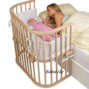 BabyBay Co-Sleeper Boxspring natur babaöböl / bölcső