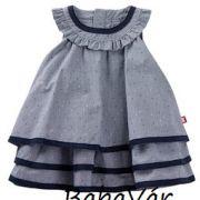 Kanz sötétkék fodros kislány ruha