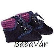 Jacobs sötétkék baba bőr cipő