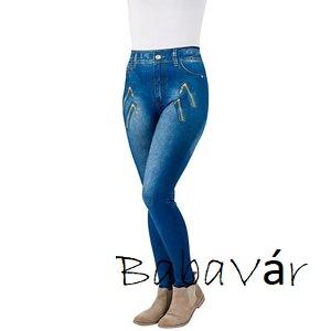 88573e79de26 Alakformáló Farmer hatású Legging- kék cipzáras | BabaMamaOutlet.hu