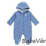 Feetje kék elefántos kifordítható pamut baba overall/levegőztető