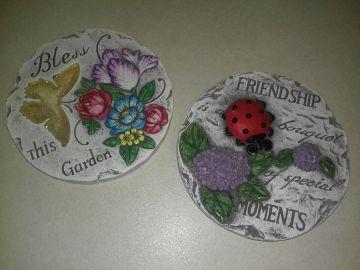 Pillangós és katicás színes dekor lépéskő szett