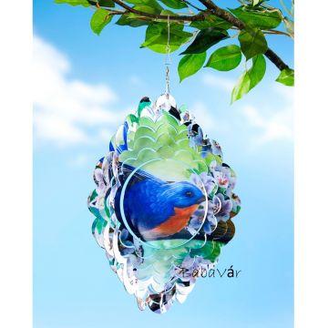 Kerti Dekor: madárkás 3D szélforgó