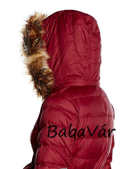 3aedc1868e BellyButton Kapucnis 2 az 1-ben toll kismama téli kabát Dark Wine Red