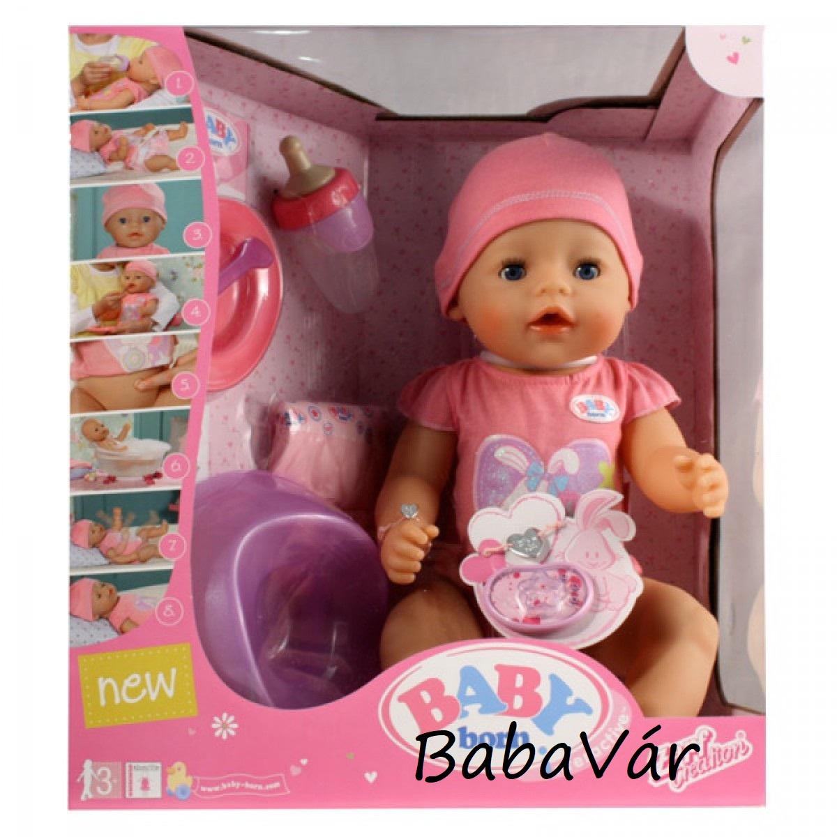 Zapf Creation Baby Born 8 funkciós interaktív baba - lány ... 9e78a1139d