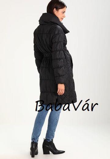 Mama Licious Zita Fekete kismama kabát hosszú