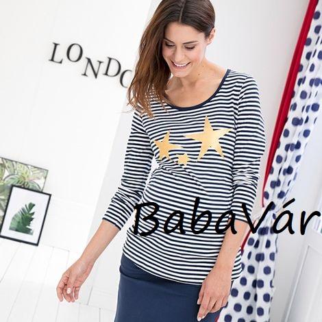 0858bf5ace 2Hearts LONDON IS CALLING csillagos szoptatós kismama felső kék ...