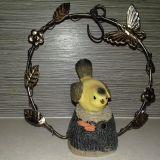Kerti Dekor: mozgásérzékelő csipogó madárka