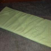Zöld kockás  bölcső matrac 40×90