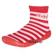 PlayShoes piros/rózsaszín csíkos úszózokni