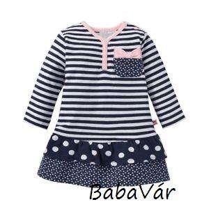 6d10163634 Feetje sötétkék csíkos hosszú ujjú kislány ruha | BabaMamaOutlet.hu