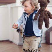 Sanetta világoskék kisfiú kiskabát / pamut baba zakó