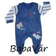 Jacky Baby kék dinó plüss rugi szett