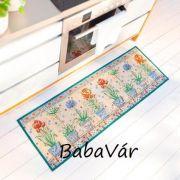 Virág mintás lábtörlő / konyhai szőnyeg